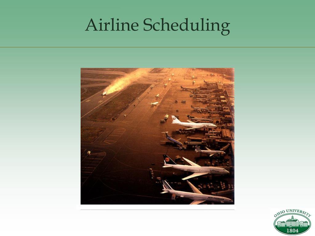 airline scheduling l.