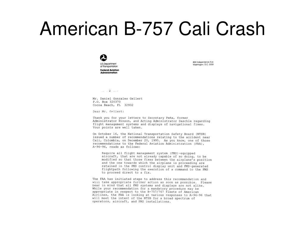 American B-757 Cali Crash