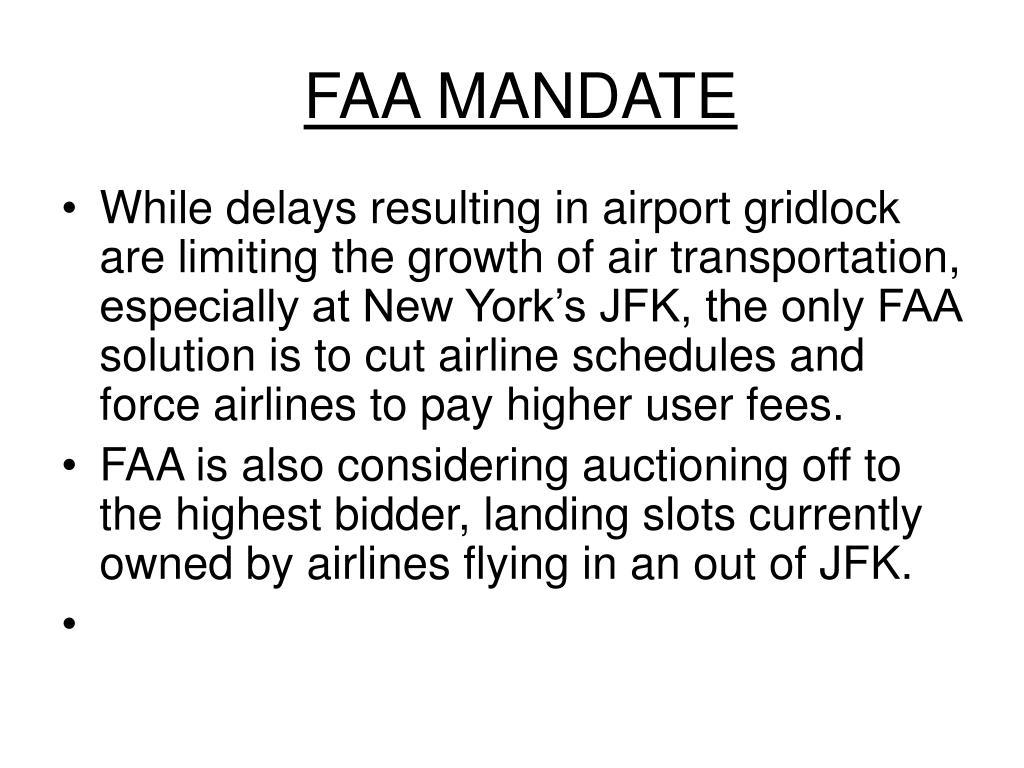 FAA MANDATE