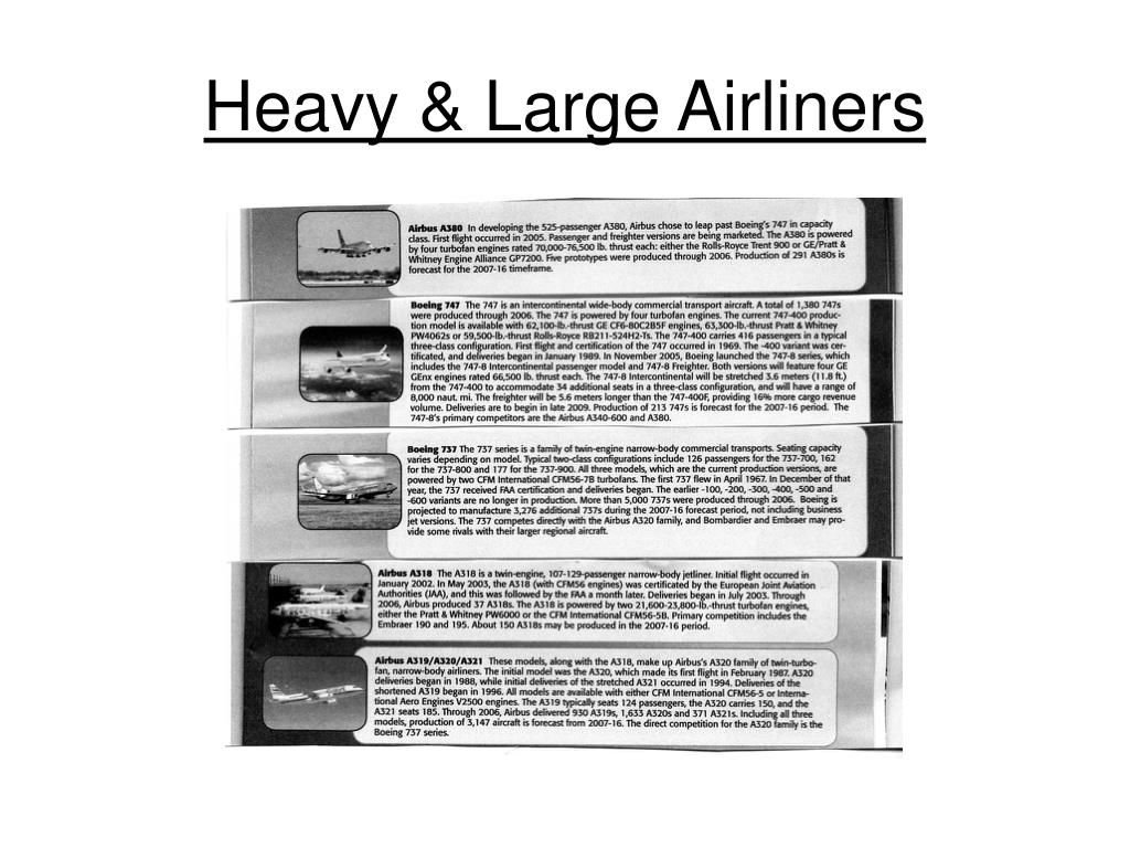 Heavy & Large Airliners
