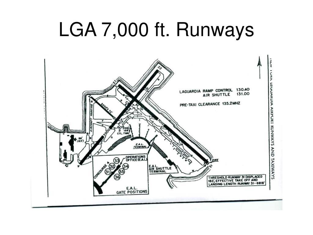 LGA 7,000 ft. Runways