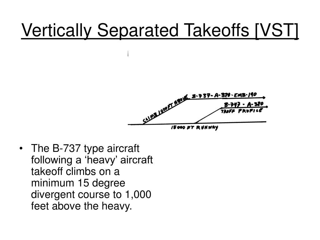 Vertically Separated Takeoffs [VST]