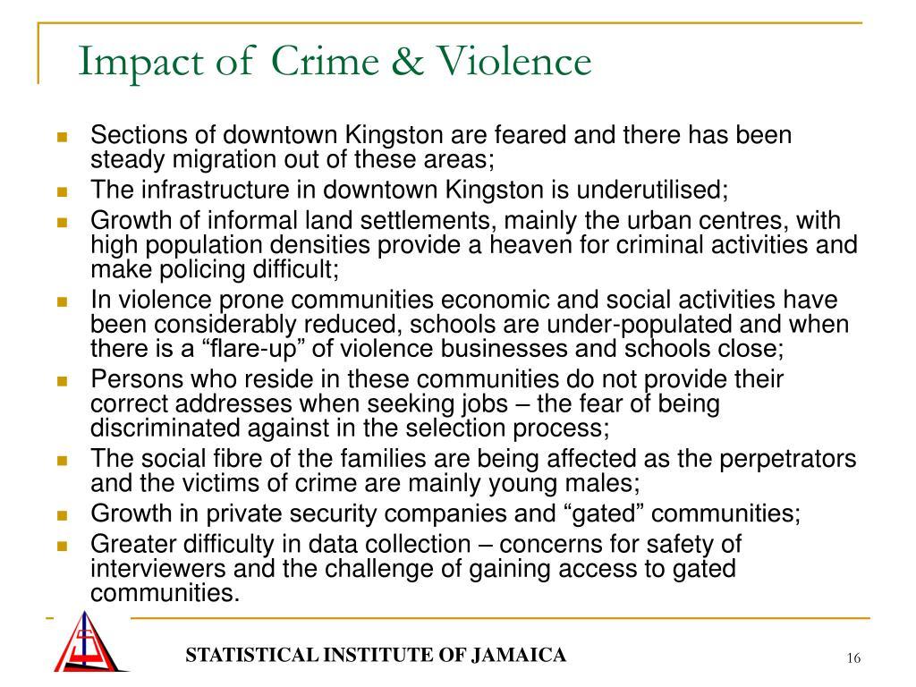 Impact of Crime & Violence