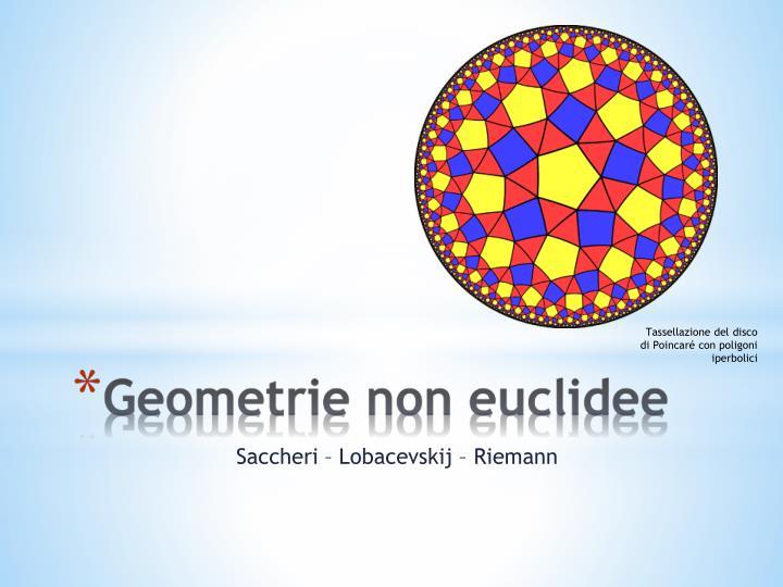 Tassellazione del disco di Poincaré con poligoni iperbolici