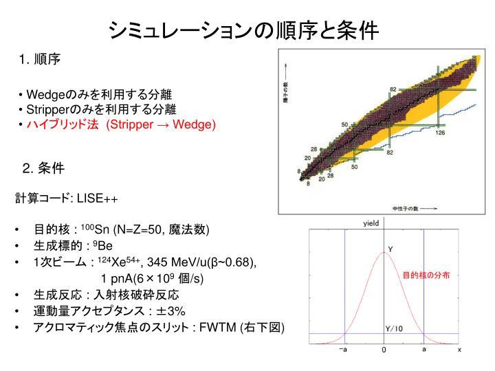 シミュレーションの順序と条件