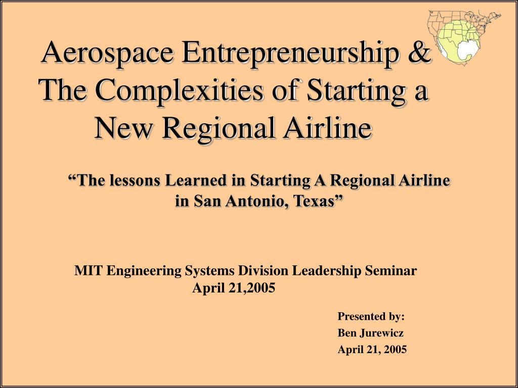 aerospace entrepreneurship the complexities of starting a new regional airline