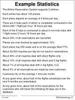 example statistics