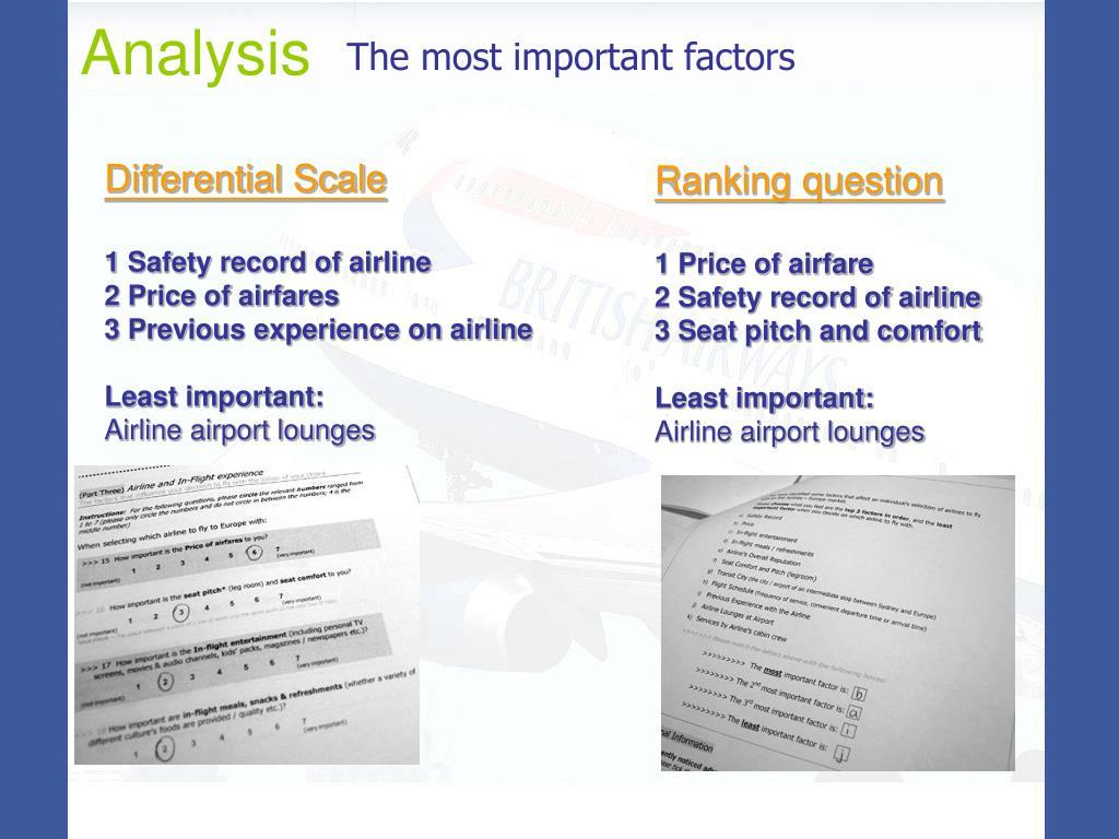 The most important factors