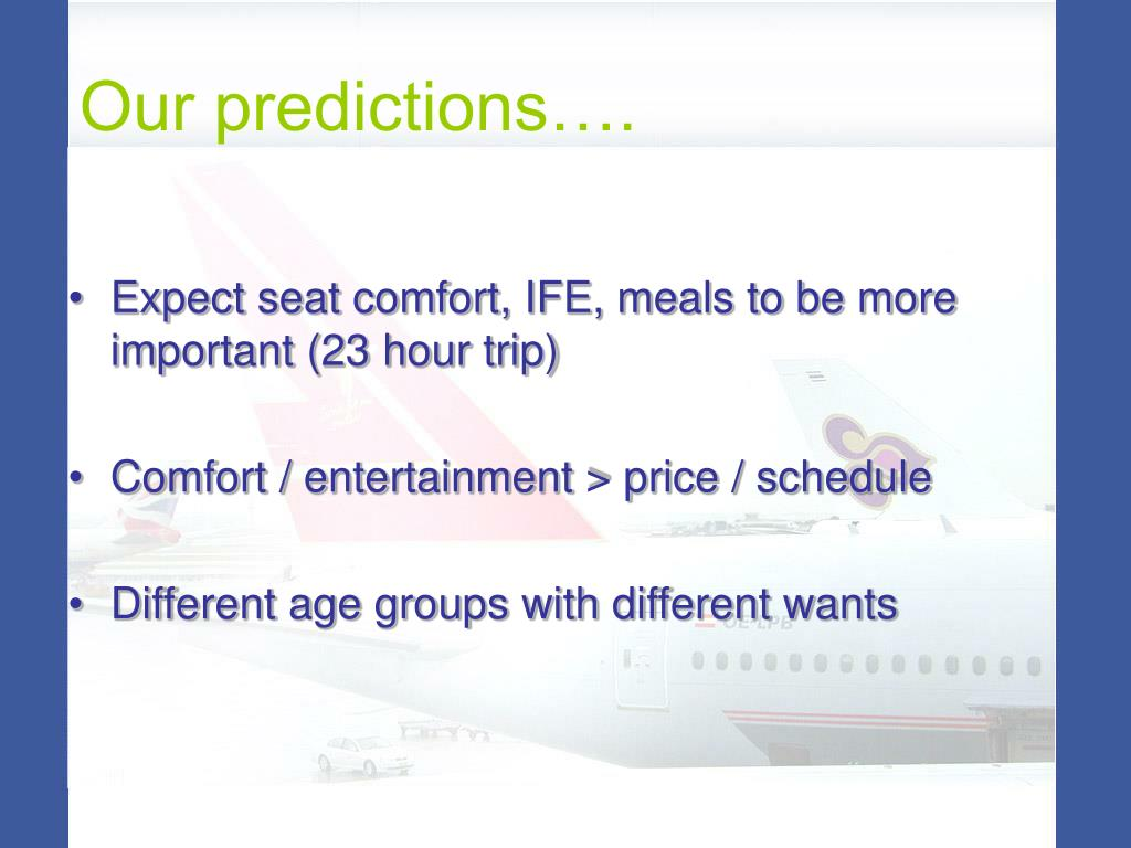 Our predictions….