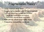 fragmentation theory