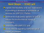 next steps icao will24