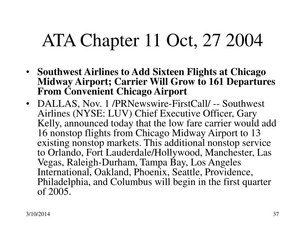 ATA Chapter 11 Oct, 27 2004