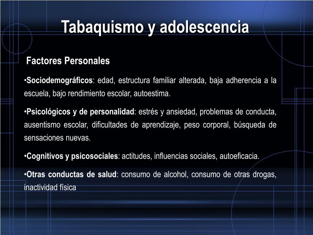 Ppt Tabaquismo Y Adolescencia Powerpoint Presentation
