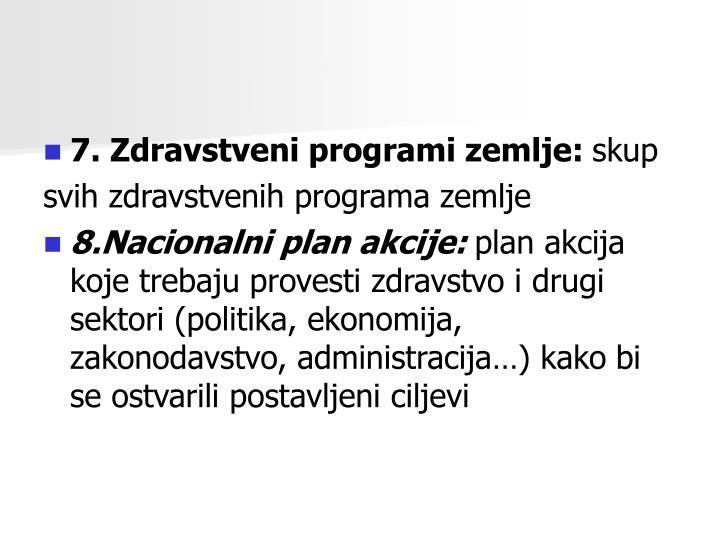 7. Zdravstveni programi zemlje: