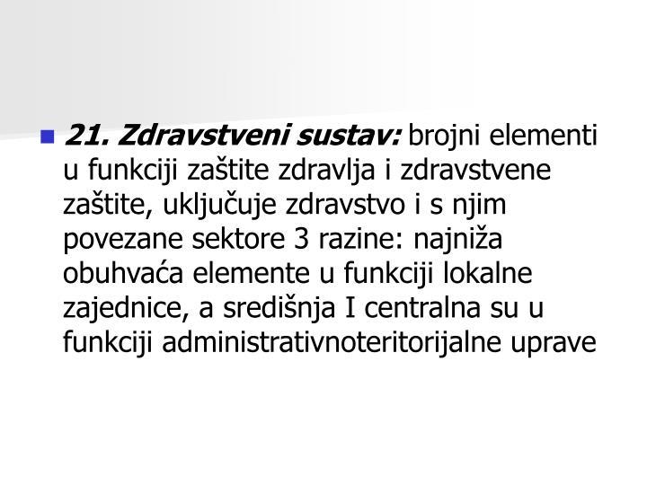 21. Zdravstveni sustav: