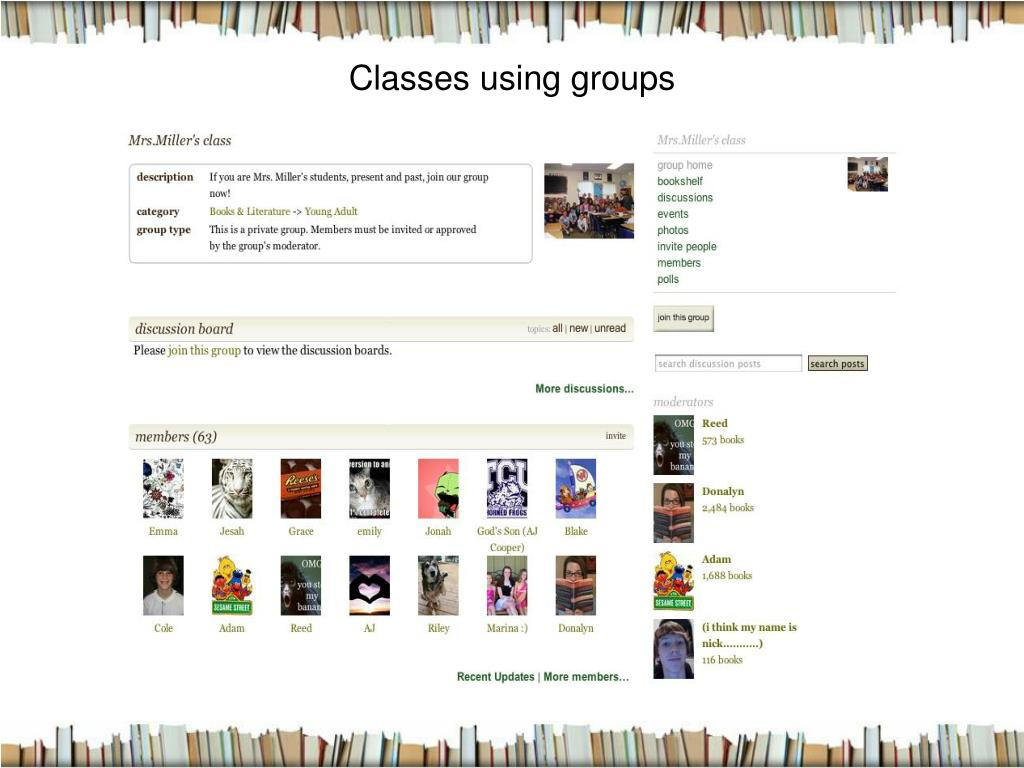 Classes using groups