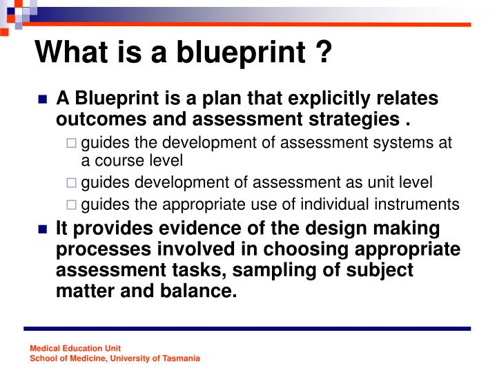 Ppt quality assessment the blueprinting approach powerpoint what is a blueprint malvernweather Choice Image
