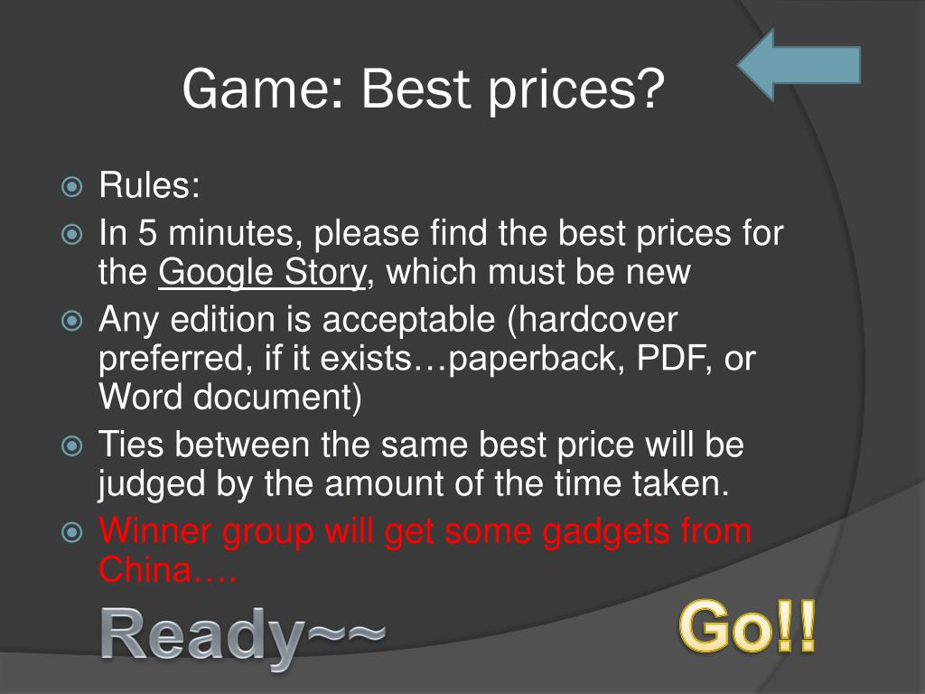 Game: Best prices?