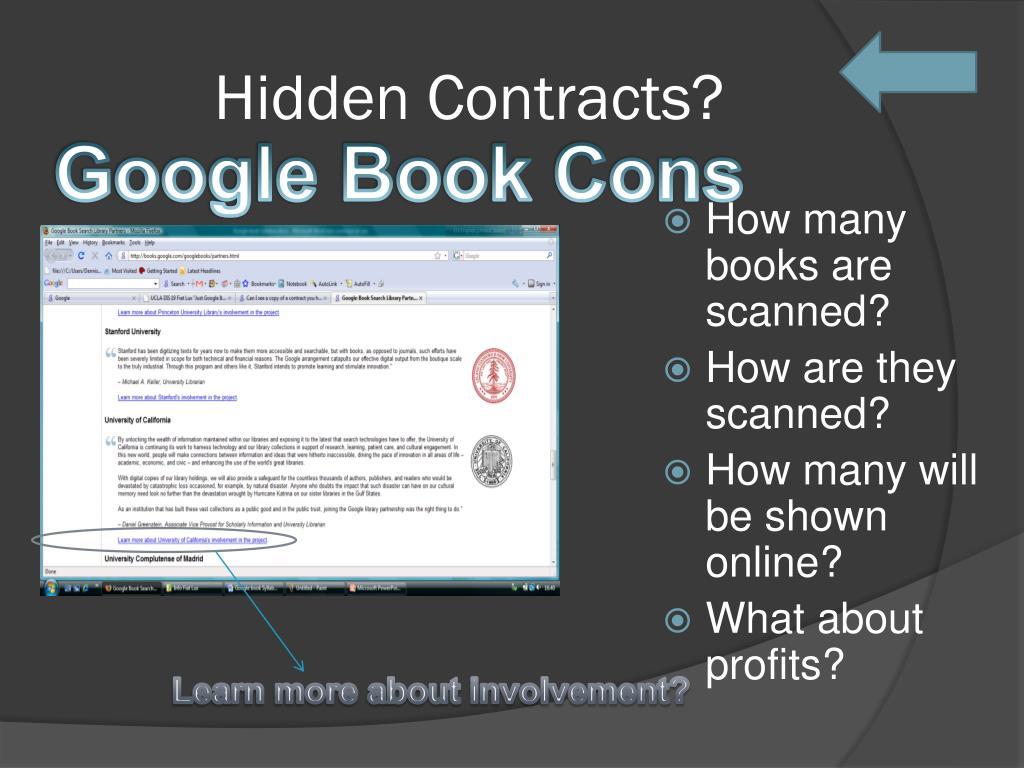 Hidden Contracts?