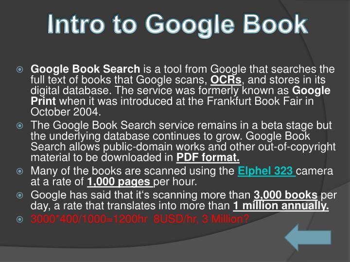 Intro to Google Book