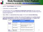 study documents 12 to 1 payback available free via its doi http dx doi org 10 1220 eps1