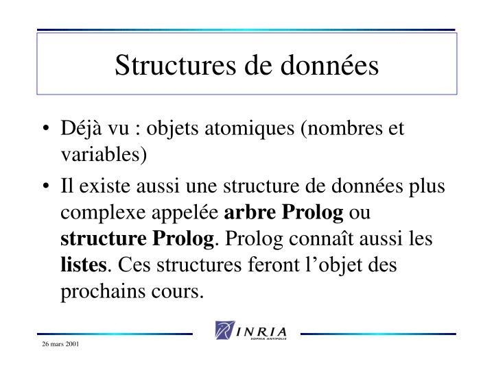 Structures de donn es