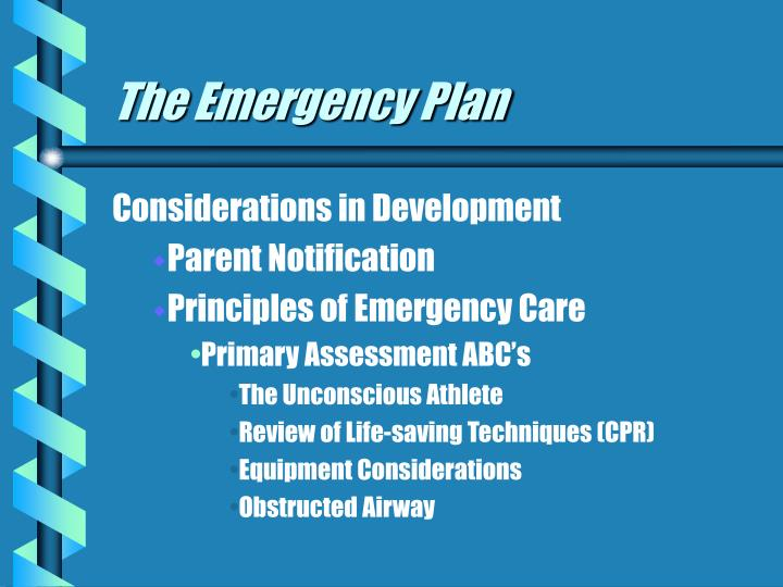 The emergency plan3