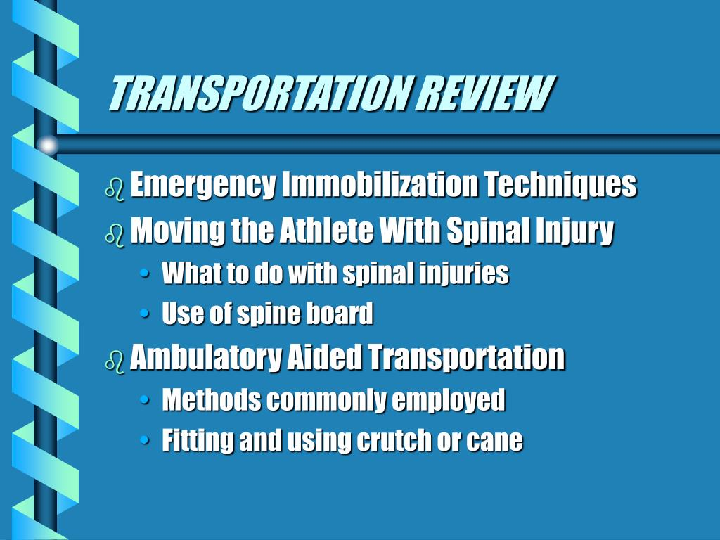 TRANSPORTATION REVIEW