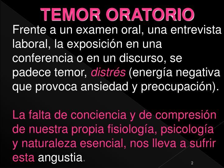 TEMOR ORATORIO