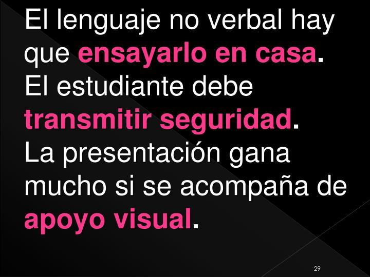 El lenguaje no verbal hay que