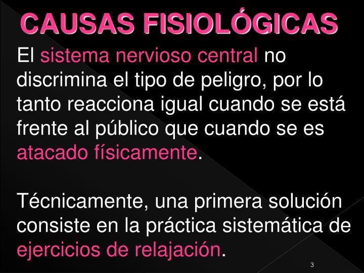 CAUSAS FISIOLÓGICAS