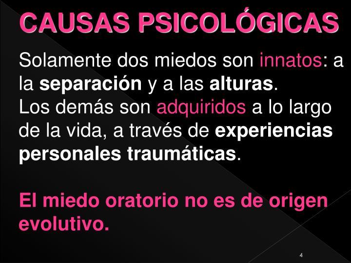 CAUSAS PSICOLÓGICAS