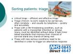 sorting patients triage