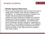 disability guidelines