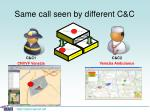 same call seen by different c c10