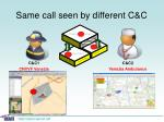 same call seen by different c c11
