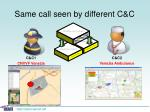 same call seen by different c c8