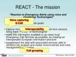 react the mission