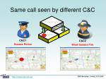 same call seen by different c c6