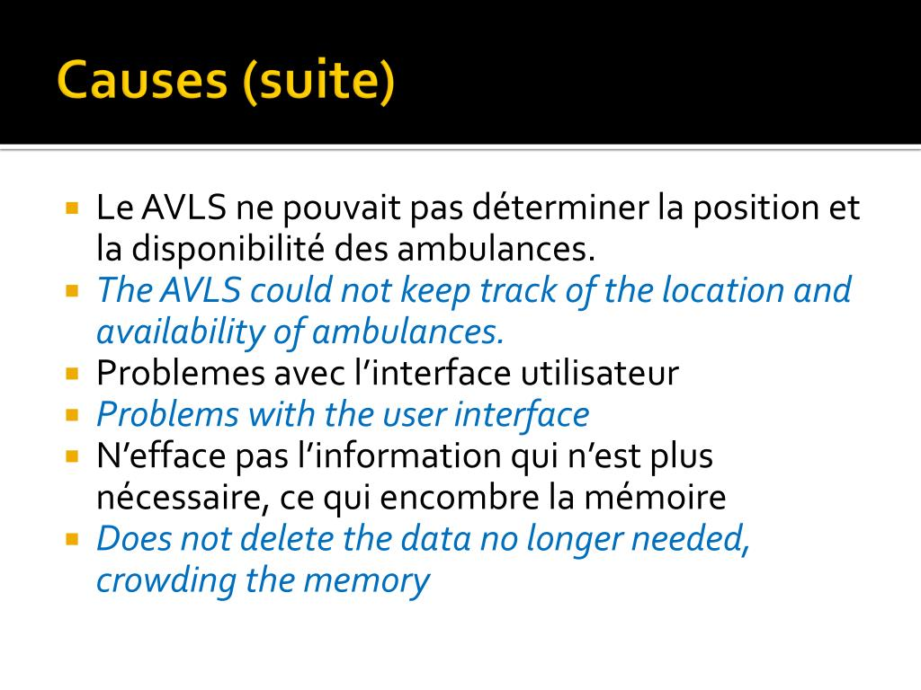 Causes (suite)