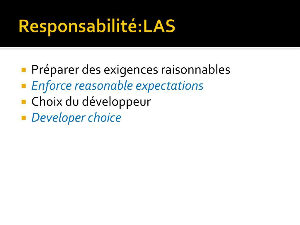 Responsabilité:LAS