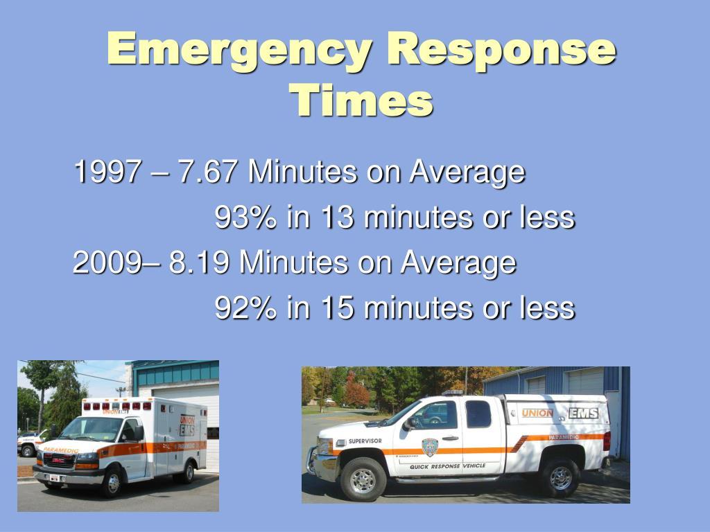 Emergency Response Times