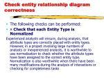 check entity relationship diagram correctness