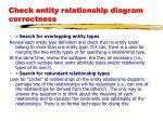 check entity relationship diagram correctness2