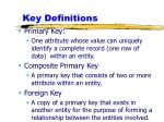 key definitions