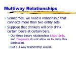 multiway relationships