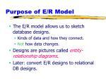purpose of e r model1