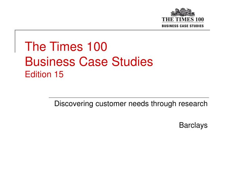 The Times 1 Case Studies