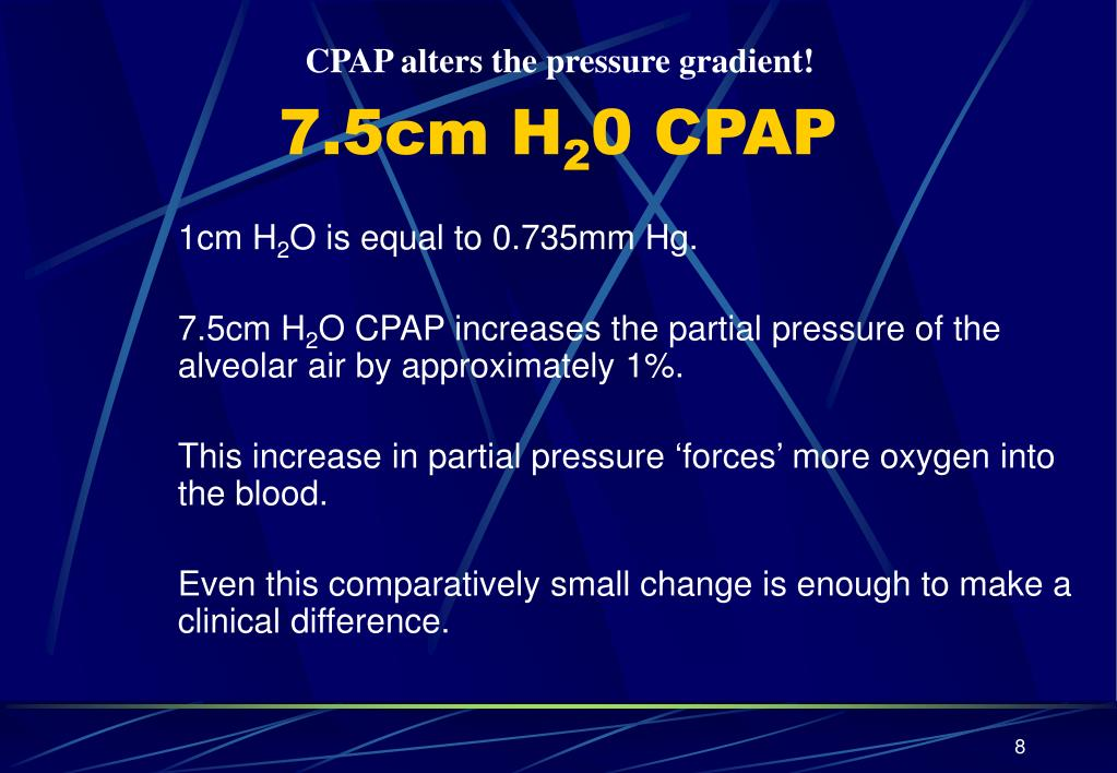 CPAP alters the pressure gradient!