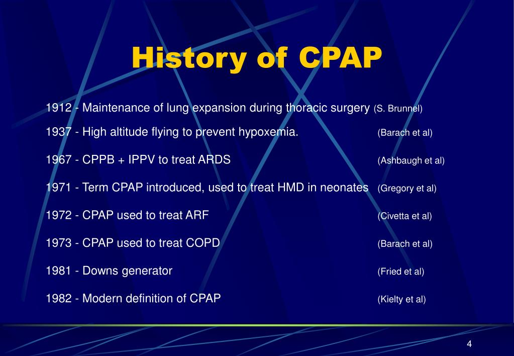 History of CPAP